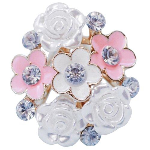 OTOKODESIGN Брошь-зажим для платка Букет белых и розовых цветов 51680