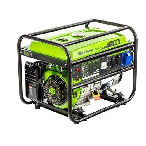 Фото - Бензиновый генератор Сибртех БС-6500 (5000 Вт) бензиновый генератор тсс sgg 5000 eh 5000 вт