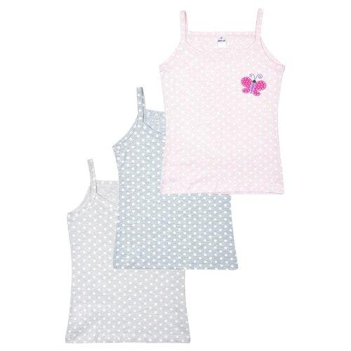Купить Майка BAYKAR 3 шт., размер 158/164, серый/розовый, Белье и купальники