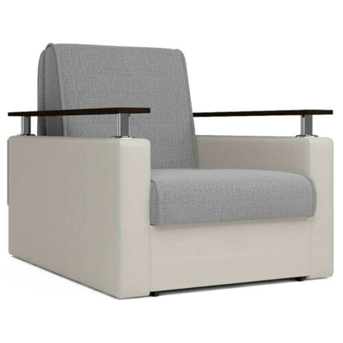 Кресло-кровать Шарм-Дизайн Шарм размер: 80х101 см, , размер спального места: 194х60 см, обивка: комбинированная, цвет: бежевый/серый