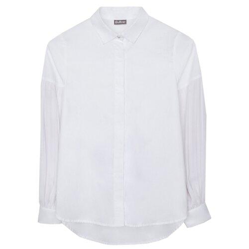 Купить Блузка Gulliver размер 134, белый, Рубашки и блузы