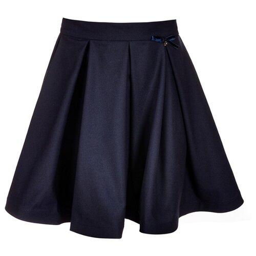Юбка Nota Bene 18122070129 размер 140, темно-синий платье nota bene размер 140 васильковый