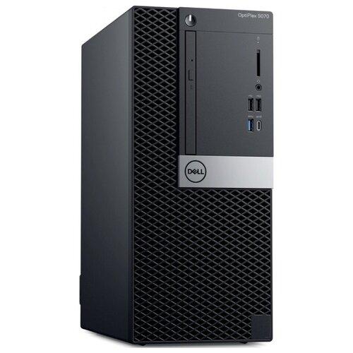 Настольный компьютер DELL Optiplex 5070 MT (5070-4760) Mini-Tower/Intel Core i5-9500/8 ГБ/256 ГБ SSD/Intel UHD Graphics 630/Windows 10 Pro черный компьютер dell precision 3630 mt intel core i7 8700 3200 mhz 16gb 256gb ssd dvd rw nvidia geforce gtx 1080 10gb dos