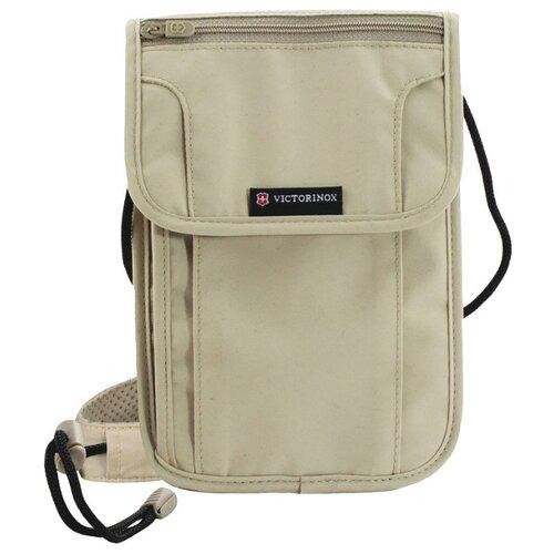 Нагрудный кошелек VICTORINOX Deluxe, полиэстер бежевый кошелек нагрудный barkli кошелек нагрудный