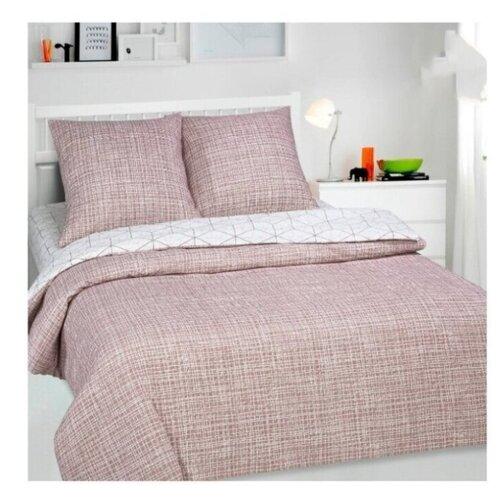 постельное белье luxe dream elite розово кремовый светло серебряный евро стандарт Постельное белье/Кардинал (Поплин-De Luxe)/АртПостель/Евро