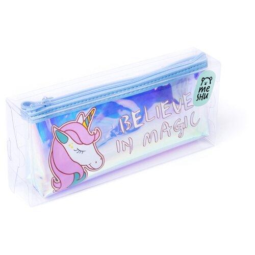 Купить MESHU Пенал Unicorn (MH_31222) прозрачный/голубой, Пеналы