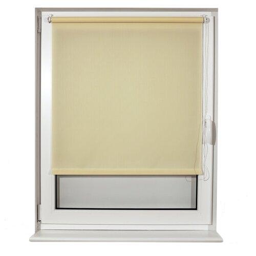 Фото - Рулонная штора Brabix Лён кремовый S-21, 50х175 см штора рулонная плайн 50х175 см фисташковый