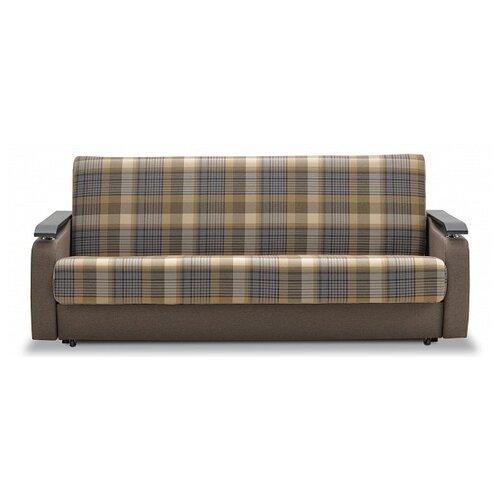 Диван Ладья Витязь М размер: 216х97 см, спальное место: 190х190 см, обивка: ткань, коичневый/венге диван книжка ладья джаз серый