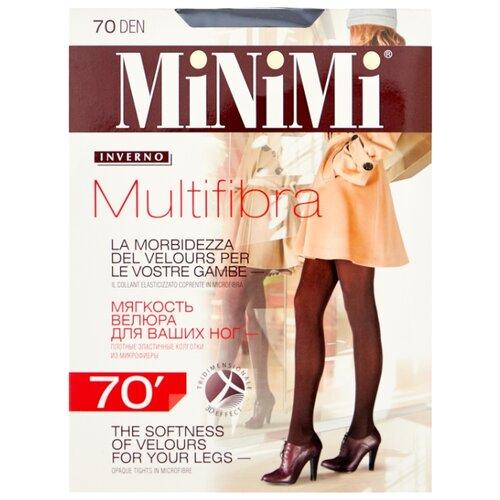 Колготки MiNiMi Multifibra 70 den, размер 2-S, fumo (серый) колготки minimi lanacotone 180 den размер 2 s m fumo серый