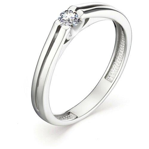 АЛЬКОР Кольцо с 1 бриллиантом из белого золота 13087-200, размер 17 алькор кольцо с 1 бриллиантом из белого золота 13299 200 размер 17