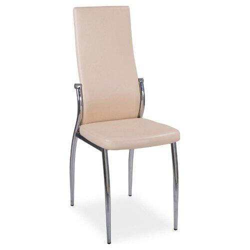 Стул Домотека Милано, металл/искусственная кожа, цвет: B1/B1 Бежевый стул домотека милано металл искусственная кожа цвет d4 b1 темно коричневый с узором бежевый