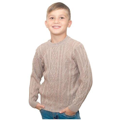 джемпер для мальчика let s go монстры цвет ярко голубой 6257 размер 98 Джемпер Golden Kid`s Art размер 98-104, какао