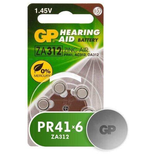 Фото - Батарейка GP Hearing Aid ZA312, 6 шт. батарейка rayovac extra za312 6 шт