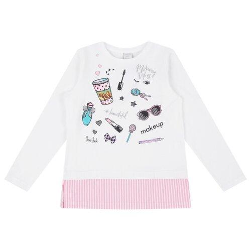 Купить Лонгслив Leader Kids размер 110, белый/розовый, Футболки и майки