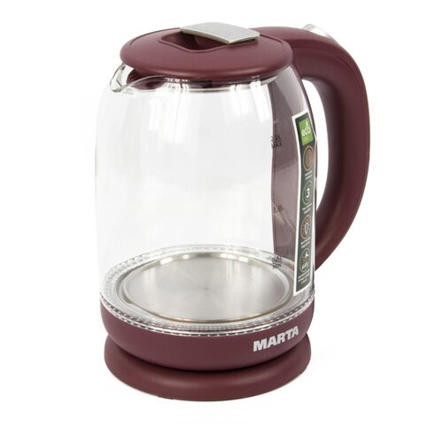 Чайник MARTA MT-1096, бордовый гранат
