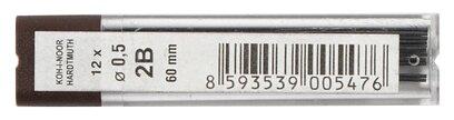 KOH-I-NOOR Грифели для цангового карандаша 4152 2B 12 шт. (415202B005PK)