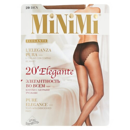 Колготки MiNiMi Elegante 20 den, размер 3-M, caramello (бежевый) колготки minimi slim control 20 den размер 3 m caramello бежевый
