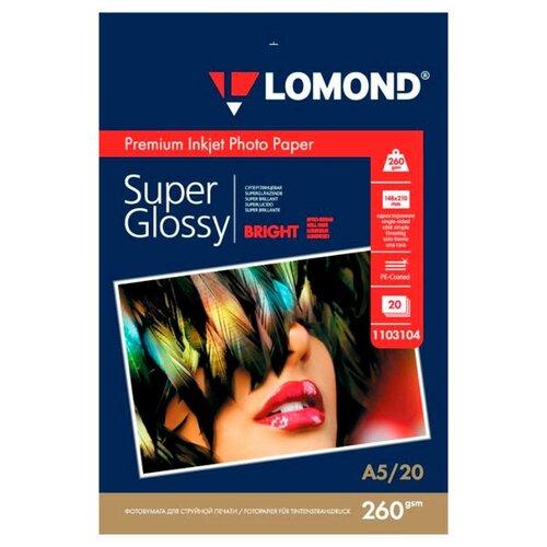 Бумага Lomond A5 Premium Photo Paper 1103104 260 г/м² 20 лист. ярко-белый 1 шт.