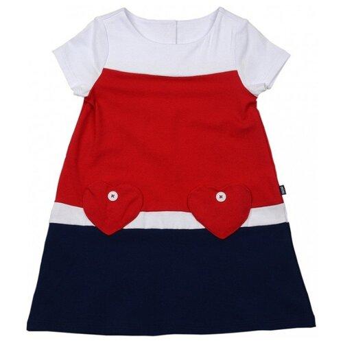 Платье Mini Maxi размер 116, красный/синий платье oodji ultra цвет красный белый 14001071 13 46148 4512s размер xs 42 170