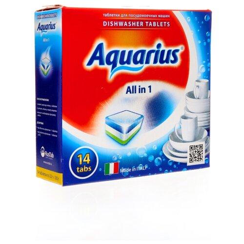 AQUARIUS All in 1 таблетки для посудомоечной машины, 14 шт.