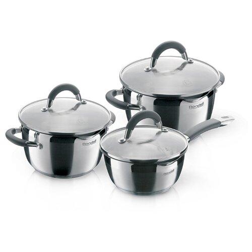 Набор посуды Rondell Flamme RDS-341 6 пр. стальной