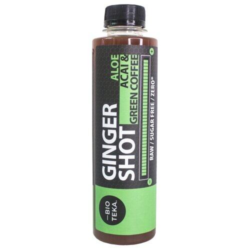 Напиток сокосодержащий BIOTEKA Ginger Shot с зеленым кофе и асаи, без сахара, 0.24 л