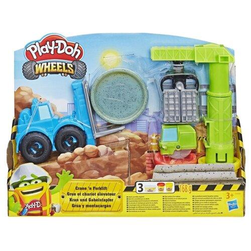 Купить Масса для лепки Play-Doh Wheels Кран-погрузчик (E5400), Пластилин и масса для лепки