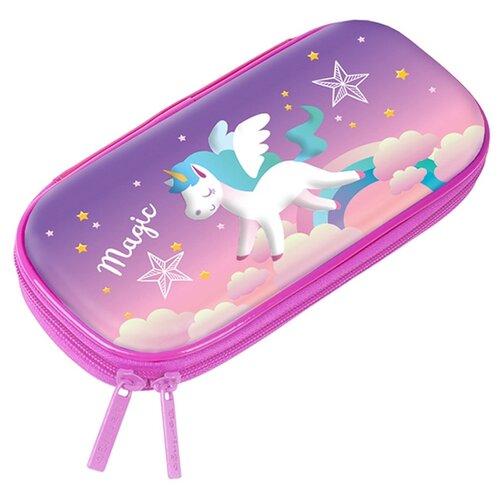 Купить Berlingo Пенал Unicorn (EVA0708) розовый/фиолетовый, Пеналы