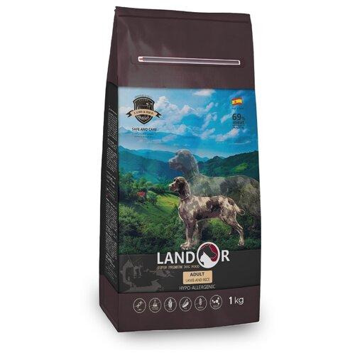 Сухой корм для собак Landor (1 кг) Adult Lamb with Rice с мясом ягненка 1 кг сухой корм для собак landor 3 кг adult lamb with rice с мясом ягненка 3 кг