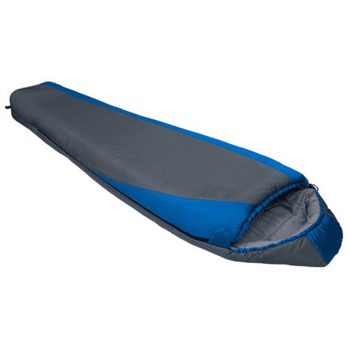 Спальный мешок Btrace Nord 7000 серый/синий с левой стороны