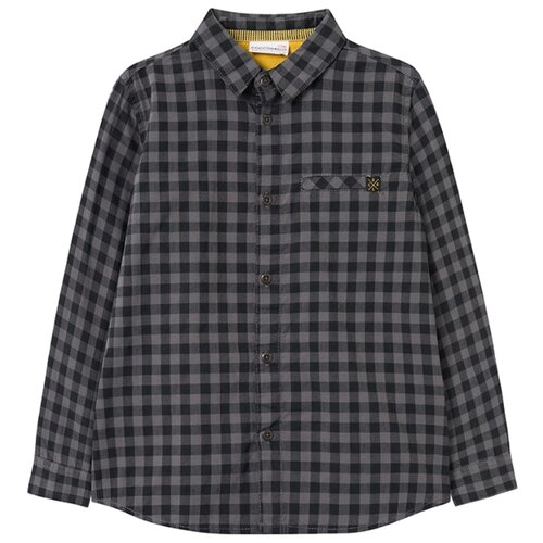 Рубашка COCCODRILLO размер 92, антрацитовый спортивные брюки coccodrillo размер 134 антрацитовый