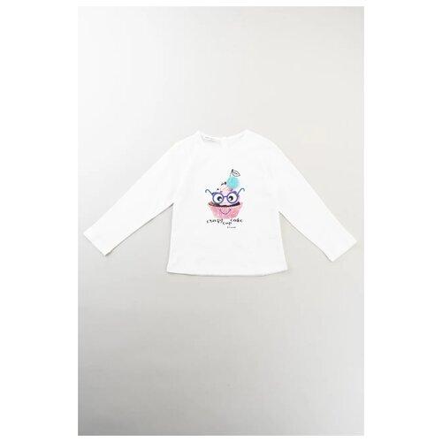 Лонгслив Brums размер 12М (80), белый, Футболки и рубашки  - купить со скидкой