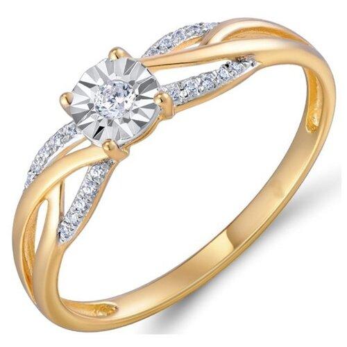 Бронницкий Ювелир Кольцо из красного золота R01-D-R309718DIA-R17, размер 17 бронницкий ювелир кольцо из красного золота r01 d 1983089ab r17 размер 17