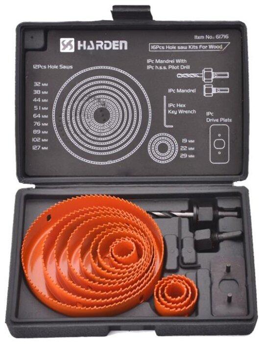 Набор коронок Harden 610548 19 127мм