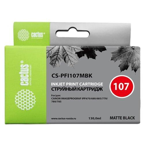 Фото - Картридж совм. Cactus PFI107MBK черный матовый для Canon IP iPF670/iPF680/iPF685 (130мл), цена за штуку, 308308 cactus cs pfi107mbk матовый черный