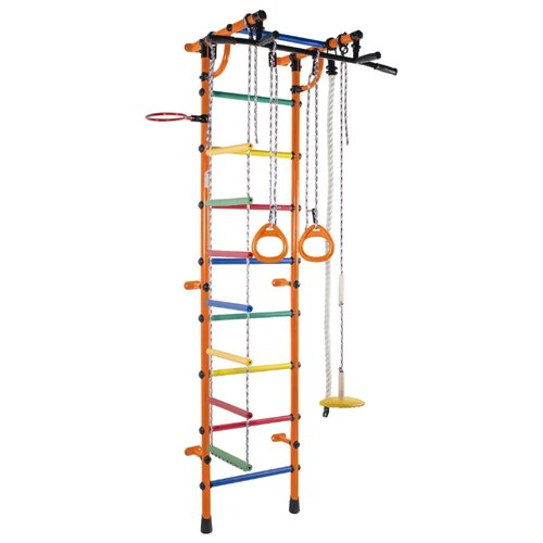 Купить Шведская стенка Формула здоровья Гамма оранжевый/радуга, Игровые и спортивные комплексы и горки