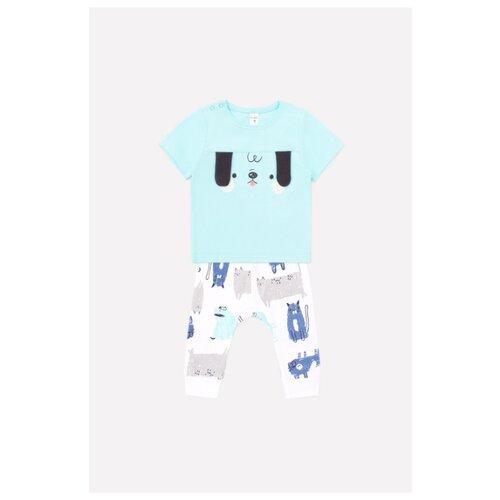 Фото - Комплект одежды crockid размер 74, аквамарин/белый комплект одежды crockid размер 74 белый розовый