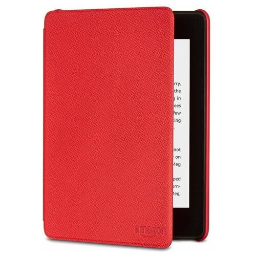 Чехол-обложка для Amazon All-New Kindle Paperwhite Leather Cover (10th Generation-2018) Punch Red