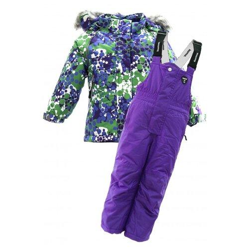 Комплект с полукомбинезоном Kuoma размер 92, фиолетовый, Комплекты верхней одежды  - купить со скидкой