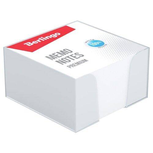 Купить Berlingo блок для записи Premium 9 х 9 см, 500 листов, пластиковый бокс (ZP8607) белый, Бумага для заметок