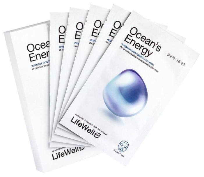 LifeWell тканевая маска Oceans Energy