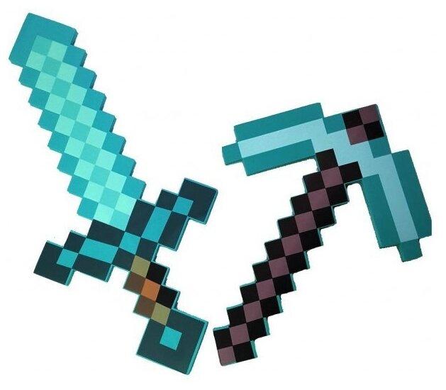 картинки майнкрафт меч кирка лопата каждого курса