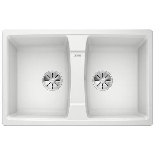 Врезная кухонная мойка 78 см Blanco Lexa 8 Silgranit PuraDur белый blanco lexa 8s silgranit антрацит