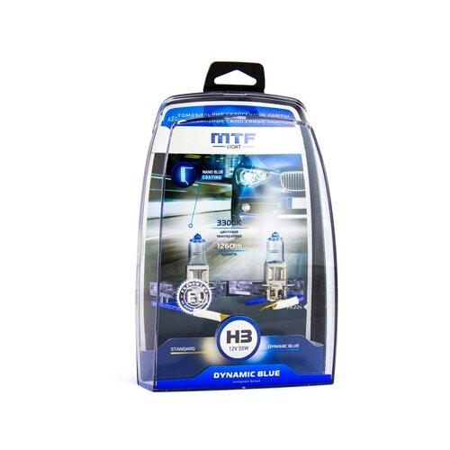 Фото - Лампа автомобильная галогенная MTF Dynamic Blue HDB1203 H3 12V 55W 2 шт. лампа автомобильная галогенная mtf dynamic blue hdb1280 h27 880 12v 27w 2 шт