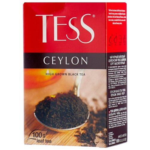 Чай черный Tess Ceylon , 100 г чай черный tess pleasure с