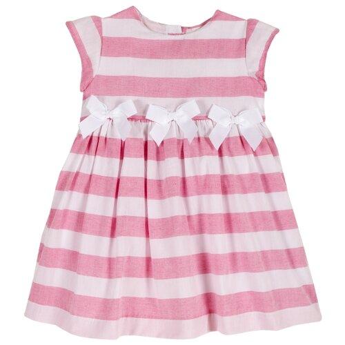 Платье Chicco размер 92, белый/розовый