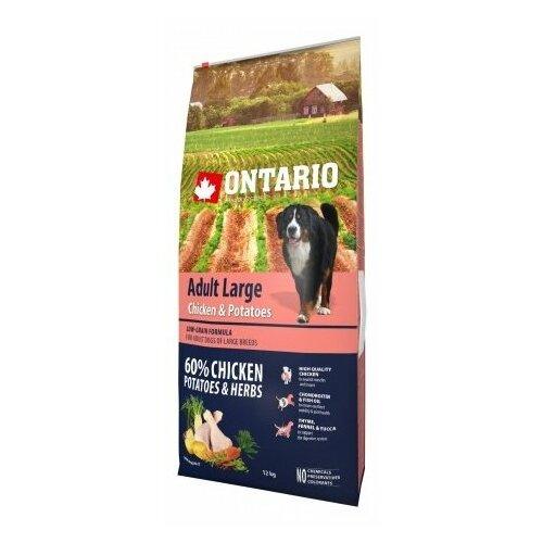 Корм для собак Ontario (12 кг) Adult Large Chicken & Potatoes 12 кг (для крупных пород)