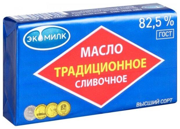 Масло Экомилк сливочное традиционное 82,5%, 180г