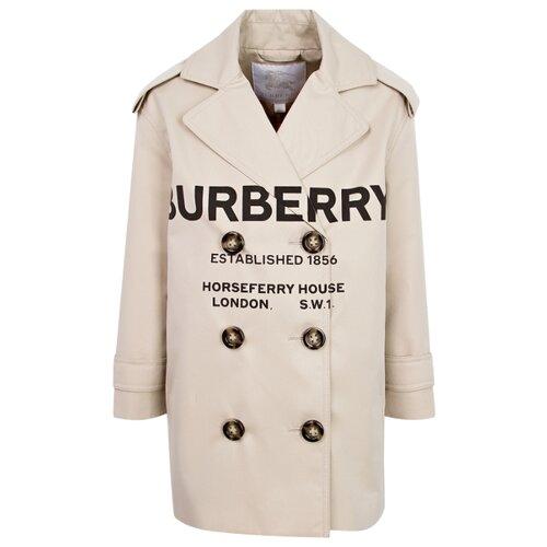 Плащ Burberry 8009132 размер 128, бежевый женский плащ burberry dfs trench 38247361