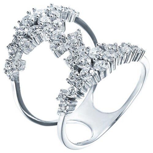 JV Кольцо с фианитами из серебра R26980-R1-KO-001-WG, размер 17 кольцо из золота юшnone r1